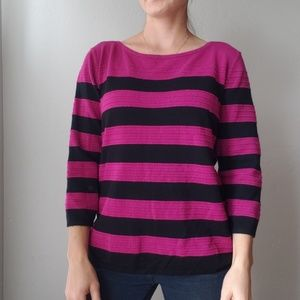 Cable & Gauge Striped Sweater